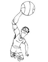 Imprimer le coloriage : Basketball, numéro 671543