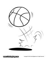Imprimer le coloriage : Basketball, numéro 671544