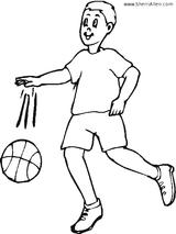 Imprimer le coloriage : Basketball, numéro 677721