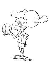 Imprimer le coloriage : Basketball, numéro 754136