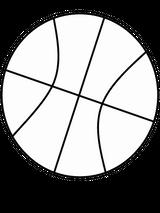 Imprimer le coloriage : Basketball, numéro 758769