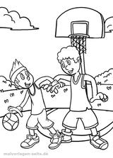 Imprimer le coloriage : Basketball, numéro 8b661108