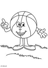 Imprimer le coloriage : Basketball, numéro b227bbc6