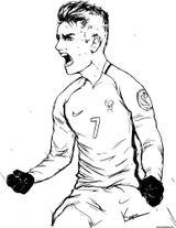 Imprimer le coloriage : Football, numéro 38c9e60e