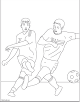 Imprimer le coloriage : Football, numéro 459857