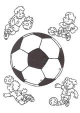 Imprimer le dessin en couleurs : Football, numéro 464611