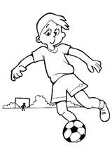 Imprimer le coloriage : Football, numéro 469820