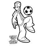 Imprimer le coloriage : Football, numéro 496430