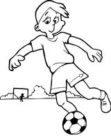 Imprimer le coloriage : Football, numéro 601197