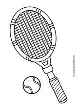 Imprimer le coloriage : Tennis, numéro 1b98d270