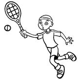 Imprimer le coloriage : Tennis, numéro 460009