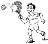 Imprimer le coloriage : Tennis, numéro 460015
