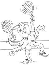 Imprimer le coloriage : Tennis, numéro 460030