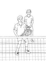 Imprimer le coloriage : Tennis, numéro 460039