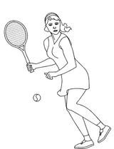 Imprimer le coloriage : Tennis, numéro 469860