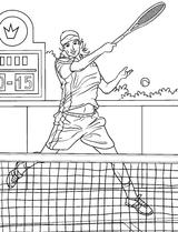 Imprimer le coloriage : Tennis, numéro 487893
