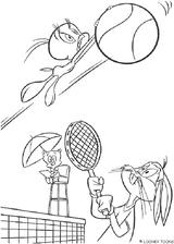 Imprimer le coloriage : Tennis, numéro 492641