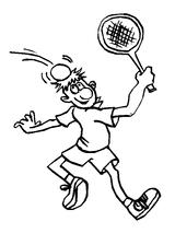 Imprimer le coloriage : Tennis, numéro 501368