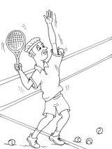 Imprimer le coloriage : Tennis, numéro 585471