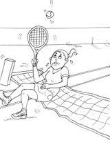 Imprimer le coloriage : Tennis, numéro 585472