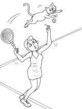 Imprimer le coloriage : Tennis, numéro 585473