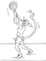 Imprimer le coloriage : Tennis, numéro 590315