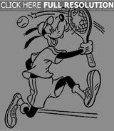Imprimer le coloriage : Tennis, numéro 671549