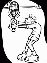 Imprimer le dessin en couleurs : Tennis, numéro 689731