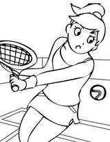 Imprimer le coloriage : Tennis, numéro 94b59913