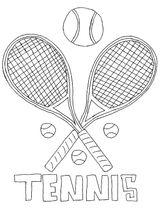 Imprimer le coloriage : Tennis, numéro a18cfcde