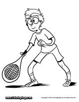 Imprimer le coloriage : Tennis, numéro c6da5215