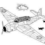 Imprimer le coloriage : Avion, numéro 17025