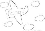 Imprimer le coloriage : Avion, numéro 3572