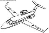 Imprimer le coloriage : Avion numéro 3578