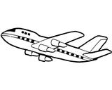 Imprimer le coloriage : Avion, numéro 3596