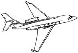 Imprimer le coloriage : Avion, numéro 666