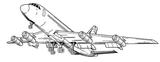 Imprimer le coloriage : Avion numéro 7277