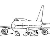 Imprimer le coloriage : Avion, numéro 755141