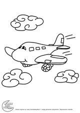 Imprimer le coloriage : Avion, numéro 9014f19c