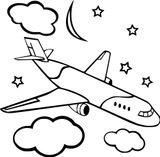Imprimer le coloriage : Avion, numéro aa6407ca