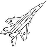 Imprimer le coloriage : Avion, numéro cfd4dbd1