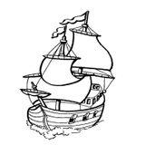 Imprimer le coloriage : Bateau, numéro 14906