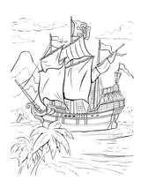 Imprimer le coloriage : Bateau, numéro 16128