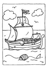 Imprimer le coloriage : Bateau, numéro 27299