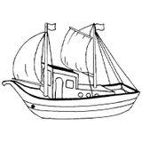 Imprimer le coloriage : Bateau, numéro 9604