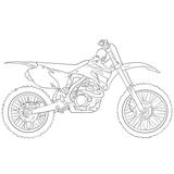 Imprimer le coloriage : Moto, numéro 27845