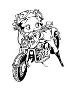 Imprimer le coloriage : Moto, numéro 3840