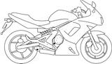 Imprimer le coloriage : Moto, numéro 3849