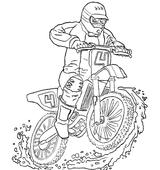 Imprimer le coloriage : Moto, numéro 3850