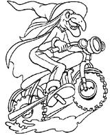 Imprimer le coloriage : Moto, numéro 3853